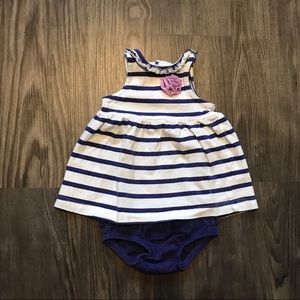 Blue and White Stripped Set